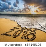new year 2018 is coming concept....   Shutterstock . vector #684145108