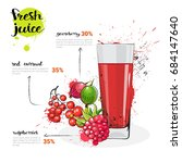 berries mix cocktail of fresh...   Shutterstock .eps vector #684147640