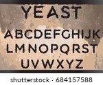 yeast font   Shutterstock .eps vector #684157588