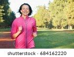 portrait of elderly woman... | Shutterstock . vector #684162220