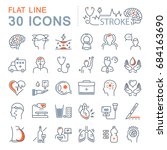 set vector line icons  sign and ... | Shutterstock .eps vector #684163690