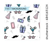 vector friday party pattern.... | Shutterstock .eps vector #684165124