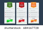 trendy price list and offer... | Shutterstock .eps vector #684167728