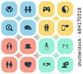 vector illustration set of... | Shutterstock .eps vector #684170518