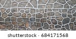 surface of a wall made of rough ... | Shutterstock . vector #684171568