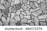 surface of a wall made of rough ... | Shutterstock . vector #684171574