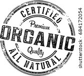 organic food vintage menu... | Shutterstock .eps vector #684172054