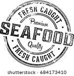 fresh seafood vintage... | Shutterstock .eps vector #684173410