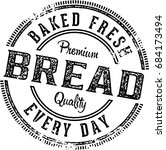 Fresh Baked Bread  Vintage...