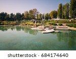 bergamo  italy   october 30 ... | Shutterstock . vector #684174640