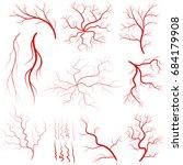 vein set  human vessel  blood... | Shutterstock .eps vector #684179908