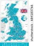 united kingdom map and... | Shutterstock .eps vector #684183766