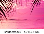 evening scene tree silhouettes  | Shutterstock . vector #684187438