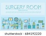 doctors making surgery vector... | Shutterstock .eps vector #684192220