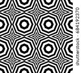 seamless pattern with black... | Shutterstock .eps vector #684192370
