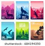 wild life in nature vector... | Shutterstock .eps vector #684194350