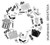 set of stylish women's...   Shutterstock .eps vector #684197614
