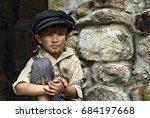 handsome 5 year old  chimney... | Shutterstock . vector #684197668