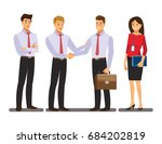 businesss and office concept  ... | Shutterstock .eps vector #684202819