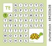 alphabetical labyrinth. ... | Shutterstock .eps vector #684203638