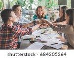 creative plan business teamwork ... | Shutterstock . vector #684205264
