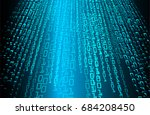 blue binary code background | Shutterstock .eps vector #684208450