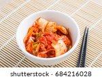 kimchi cabbage  korean food  in ...   Shutterstock . vector #684216028