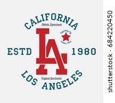 los angeles  california... | Shutterstock .eps vector #684220450