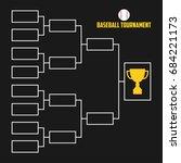 tournament bracket. baseball... | Shutterstock .eps vector #684221173