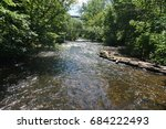 view of minnehaha creek from a... | Shutterstock . vector #684222493