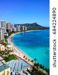 hawaii waikiki beach | Shutterstock . vector #684224890