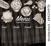 menu food restaurant template... | Shutterstock .eps vector #684234970