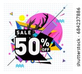 summer sale memphis style web... | Shutterstock .eps vector #684237886