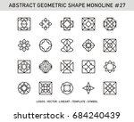 geometric set   abstract shape... | Shutterstock .eps vector #684240439