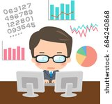 a analyst and images of various ... | Shutterstock .eps vector #684240868