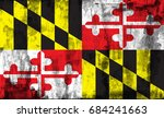 the flag of maryland | Shutterstock . vector #684241663