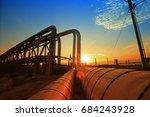 oil pipeline  the oil industry... | Shutterstock . vector #684243928