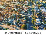 aerial view of of a residential ... | Shutterstock . vector #684245236