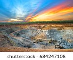 aerial view of opencast mining... | Shutterstock . vector #684247108