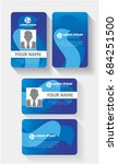 user id card set with color... | Shutterstock .eps vector #684251500