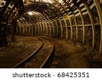 modern coal mine passageway in... | Shutterstock . vector #68425351
