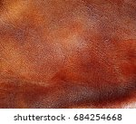 background of brown leather.... | Shutterstock . vector #684254668