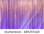silver curtain screen drape... | Shutterstock . vector #684255160