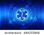 3d illustration medicine... | Shutterstock . vector #684255868