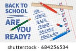 back to school vector... | Shutterstock .eps vector #684256534