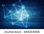 2d illustration technology...   Shutterstock . vector #684264808