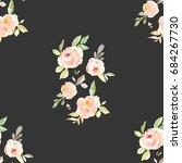 vintage flower wallpaper... | Shutterstock . vector #684267730