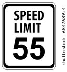 speed limit 55 mph sign... | Shutterstock .eps vector #684268954