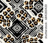 seamless textile  pattern print ...   Shutterstock .eps vector #684283420