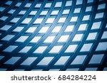 full frame of grid pattern | Shutterstock . vector #684284224